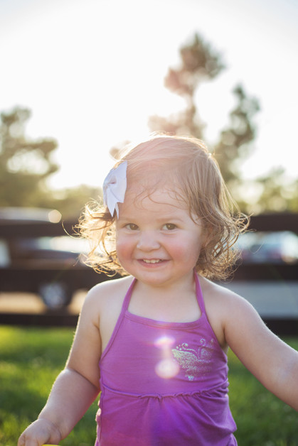 Little girl in beautiful backlight | Northern Virginia Family Photographer