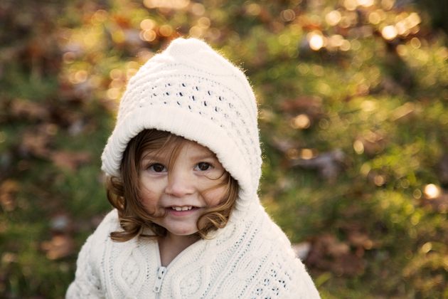 little girl in white sweater | Northern Virginia Family Photographer